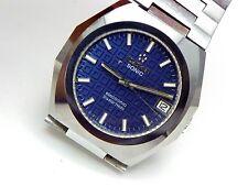 Eterna Sonic Watch,Electronic Diastar Rado Tungsten case Date.