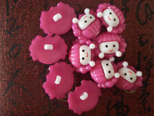 10PC Plastic Sewing Buttons 18X23mm 1 Holes #N25