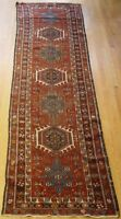 RUNNER ANTIQUE KARAJAA HERIZZ HAND KNOTTED WOOL ORIENTAL LONG RUG  2.9 x 11.4