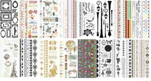 Kaisercraft - Rub Ons / Rubons - Many Designs To Choose From