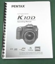 Pentax K-10D Operating Manual: 240 Pages & Protective Covers!