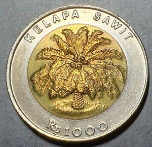 Indonesia 1000 1,000 Rupiah Bimetal 1993 First Year UNC