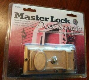 Master Lock Door Security Interlocking Deadbolt 5125D Solid Brass New