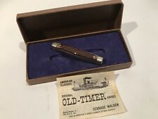 Pocket Knife Camillus, In Schrade Old Timer Box Small 3 Blade Horn Handle