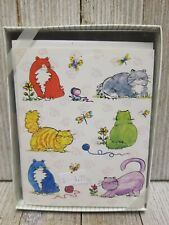 Fat Cats Greeting Cards Note Cards Set Of 8 - B61