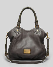 NWT MARC by MARC JACOBS 'Classic Q Fran' Leather Bag Tote DARK GRAY $448 AUTHNTC