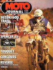 MOTO JOURNAL  689 SUZUKI 600 DR Alain CHEVALIER Freddie SPENCER Le TOUQUET 1985