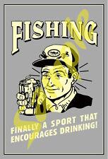 Beer #15 Old Time Funny RetroTin Sign Art  Refrigerator Magnet  Magnetic Sticker