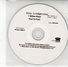 (DS615) Izzy Lindqwister, 1 Million Keys / Fool to Fool - DJ CD