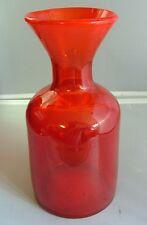 ERIK HOGLUND  RED BUBBLE GLASS VASE
