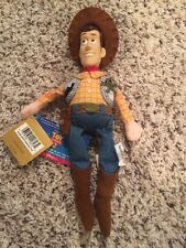 NWT Disney Bean Bag Toy Story 2 Plastic Face Woody w Sound