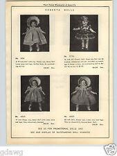 1951 PAPER AD Robeta Doll Sayco Peggy Ann Mama Dolls Royal Snookums Corky