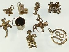 Vintage 925 Sterling Silver Charm JOB LOT VARIOUS X9 21g a386