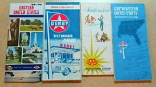 *Lot (#10) of (4) 60's, 70's 80's East, Central, West, Southeast U.S. Road Maps*