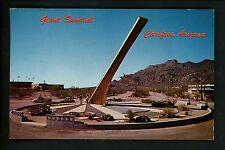 Clock postcard Giant Sundial Carefree, Arizona AZ