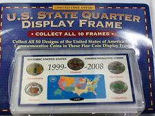 1999 United States 5 Coin Colorized Quarter Set Still Sealed in Display Frame