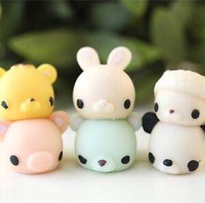 3 PC Lot Animal Squishy Squeeze Kid Hand Toy Kawaii Elastic Fidget Stress Relief