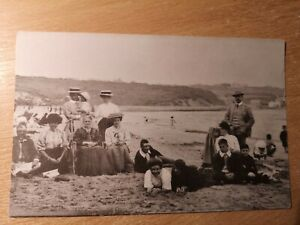 """POSTCARD ANGLESEY - BENLLECH BEACH EARLY 1900""""s  -,ARCHIVE CARD"""