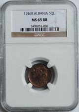 "Albania 5 qindar leku 1926, NGC MS65 RB, ""Kingdom of Albania (1925 - 1938)"""