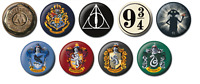 Harry Potter 25mm Button Pin Badge Warner Bros Officially Licensed Magic Wizard
