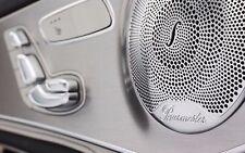 4pcs Burmester Auto Audio Trim Metal Speaker cover Benz Mercedes trim cover