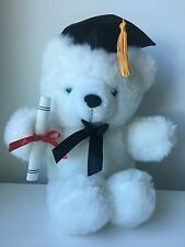 """9"""" Graduation Plush Teddy Bear with Cap & Diploma Holding(new without tag)"""