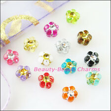 180Pcs Mixed Acrylic Plastic Tiny Star Flower Spacer Beads Charms 7mm