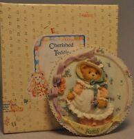 Cherished Teddies - Faith - 104140 - Girl With Bonnets Plaque