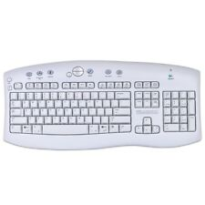 Logitech Wireless 104 Key Multimedia Keyboard W/USB-PS/2 RF Receiver - White
