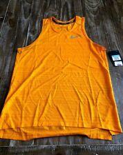 Nike Dri-Fit Orange Running Tank w/ Grey Logo Mens Size M Nwt