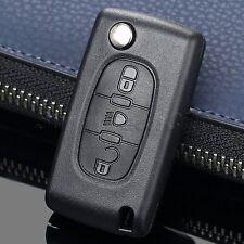 For Citroen C4 C5 C6 Flip Folding Keyless Entry Remote Car Key Case Shell 3 BTN