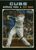2020 Topps Heritage High Number #505 Anthony Rizzo Action Image Variation SP Cub