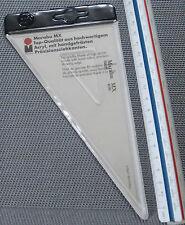 2x Marabu MX 616 triángulo de makrolon con tuschkante 30-60-90 ° 290 mm escuadra