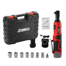 """Cordless Electric Ratchet Wrench 3/8"""" 12V 45Nm Ratchet Kit w/ Battery & Charger"""