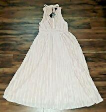 Nordstrom NBD Womens Pink Formal Night Out V Neck Keyhole Long Dress Size Medium