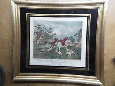 VINTAGE Etching Fox Hunting - Framed PRINT G. Morland Engraved by E. Bell B