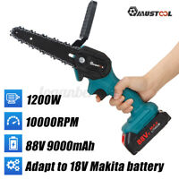 6'' Electric Cordless Chainsaw Cordless Pruning Shears Chain Saw w/ Two Battery