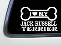 """ThatLilCabin - I LOVE MY JACK RUSSELL TERRIER 8"""" AS629 car sticker decal"""