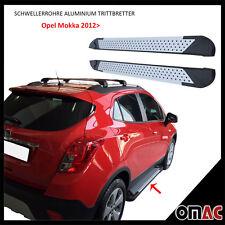 Schwellerrohre Aluminium Trittbretter für Opel Mokka 2012> / Mokka X Almond 163