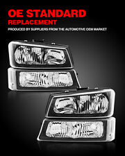 For 2003 2006 Chevy Silveradoavalanche Bumper Headlightlamps Clear Corner Fits More Than One Vehicle