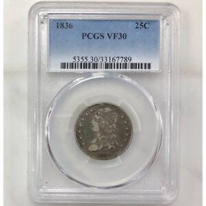 1836 Capped Bust Quarter PCGS VF30 ***Rev Tye's Coin Stache*** #7789198