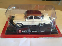 "DIE CAST "" SIMCA P60 MONACO - 1962 "" SCALA 1/43 AUTO PLUS + BOX 1"