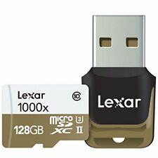 Lexar 128GB Professional 1000x microSDXC UHS-II Memory Card USB 3.0 Card Reader