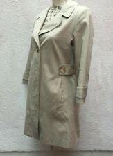 Ladies Trench Coat UK 8 Cream Beige 36 Cotton M&S Button Autograph Neutral Lined