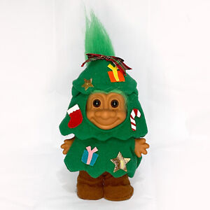 """Russ Christmas Tree Troll Green Hair Original Costume Excellent Condition 6"""""""