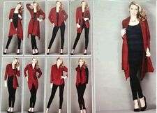 Polyester Tie Patternless Long Jumpers & Cardigans for Women