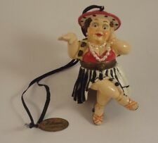 Rare Katherine's Collection Chubby Lady w/Pearls Christmas Ornament Trinket Box!