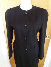 AUSTIN REED BLACK WOOL JACKET AND SKIRT  - SIZE 8