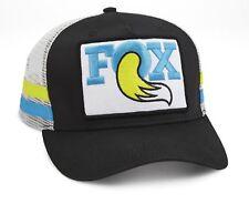 FOX THROWBACK TRUCKER HAT O/S BLACK-BLUE-YELLOW > GO CYCLE SHOP