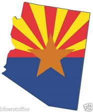 ARIZONA SILHOUETTE STATE MAP FLAG SHAPE BUMPER STICKER LAPTOP STICKER TOOLBOX